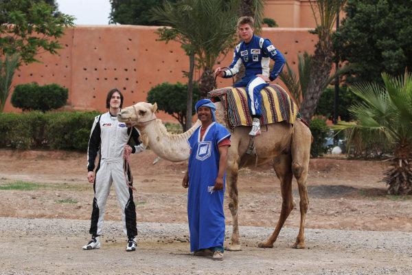 (L to R): Will Bratt (GBR) and Jack Clarke (GBR). FIA Formula Two Championship, Rd2,  Marrakech, Morocco. Thursday 29 April 2010