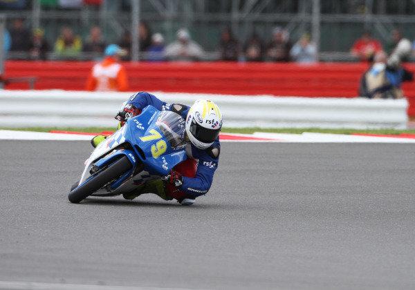 British Grand Prix.  Silverstone, England. 15th-17th June 2012.  Moto3. Fraser Rogers, Racing Steps KRP Honda.  World Copyright: Kevin Wood/LAT Photographic.  ref: Digital Image IMG_8797a