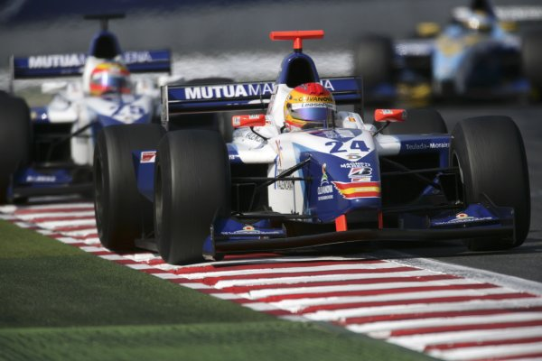 2006 GP2 Series. Round 7 . Magny-Cours, France. 16th July.Sunday Race Adrian Valles (ESP, Campos Racing). Action.  World Copyright: Charles CoatesGP2 Series Media Service. ref: Digital Image ZK5Y9428