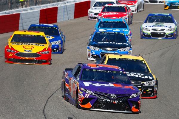 Monster Energy NASCAR Cup Series Toyota Owners 400 Richmond International Raceway, Richmond, VA USA Sunday 30 April 2017 Denny Hamlin, Joe Gibbs Racing, FedEx Ground Toyota Camry and Jamie McMurray, Chip Ganassi Racing, GearWrench Chevrolet SS World Copyright: Russell LaBounty LAT Images ref: Digital Image 17RIC1Jrl_6336