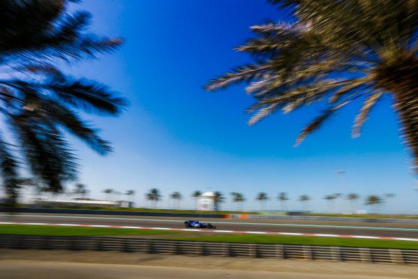 Yas Marina Circuit, Abu Dhabi, United Arab Emirates. Wednesday 29 November 2017. Charles Leclerc, Sauber C36 Ferrari. World Copyright: Joe Portlock/LAT Images  ref: Digital Image _R3I4366