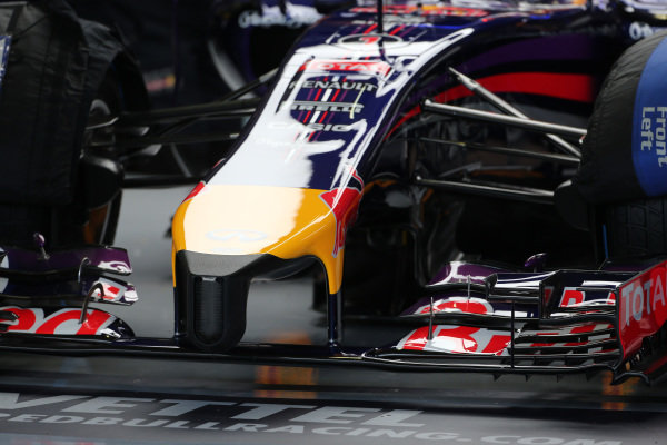 Red Bull Racing RB10 nose. Formula One Testing, Jerez, Spain, Day Two, Wednesday 29 January 2014.