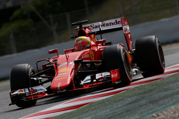 Circuit de Catalunya, Barcelona, Spain. Wednesday 13 May 2015. Esteban Gutierrez, Ferrari SF15-T.  World Copyright: Alastair Staley/LAT Photographic. ref: Digital Image _79P5129