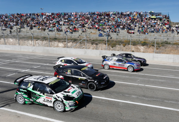 2014 FIA World Rallycross Championship Round 1 Montalegre, Portugal 3rd & 4th May 2014. Start Supercars.  Worldwide Copyright: McKlein/LAT