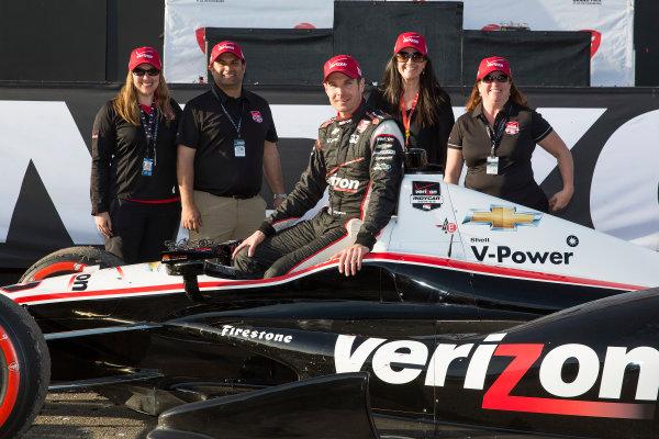 28-30  March, 2014, St. Petersburg, Florida, USA Winner Will Power with the Verizon team © 2014, Michael L. Levitt LAT Photo USA