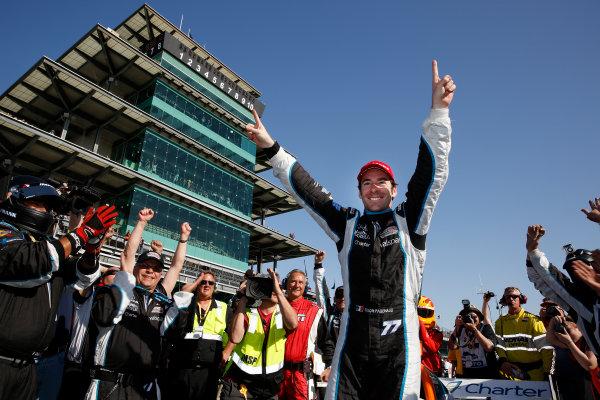 8-10 May, 2014, Indianapolis, Indiana, USA Simon Pagenaud celebrates his win ©2014, Michael L. Levitt LAT Photo USA