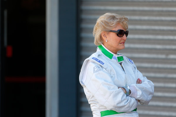 FIA Formula E Test Day, Donington Park, UK.  9th - 10th July 2014.  Angela Rippon. Photo: Adam Warner/FIA Formula E ref: Digital Image _L5R2750