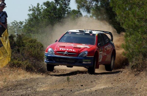 Colin McRae (GBR) / Derek Ringer (GBR) Citroen Xsara WRC.World Rally Championship, Rd7, Cyprus Rally, Shakedown, 19 June 2003.DIGITAL IMAGE