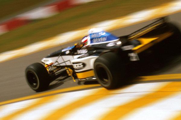 Interlagos, Brazil.28-30 March 1997.Jarno Trulli (Minardi M197 Hart) 12th positionRef-97 BRA 08.World Copyright - LAT Photographic