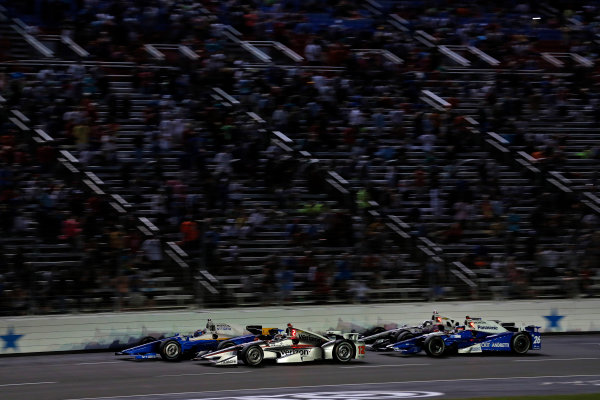 Verizon IndyCar Series Rainguard Water Sealers 600 Texas Motor Speedway, Ft. Worth, TX USA Saturday 10 June 2017 Scott Dixon, Chip Ganassi Racing Teams Honda, Will Power, Team Penske Team Penske Chevrolet World Copyright: Phillip Abbott LAT Images ref: Digital Image abbott_texasIC_0617_5039