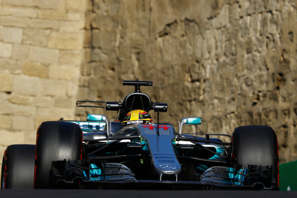 Baku City Circuit, Baku, Azerbaijan. Friday 23 June 2017. Lewis Hamilton, Mercedes F1 W08 EQ Power+.  World Copyright: Steven Tee/LAT Images ref: Digital Image _O3I1234
