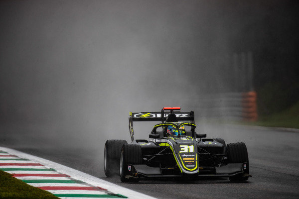 AUTODROMO NAZIONALE MONZA, ITALY - SEPTEMBER 06: Logan Sargeant (USA, Carlin Buzz Racing) during the Monza at Autodromo Nazionale Monza on September 06, 2019 in Autodromo Nazionale Monza, Italy. (Photo by Joe Portlock / LAT Images / FIA F3 Championship)