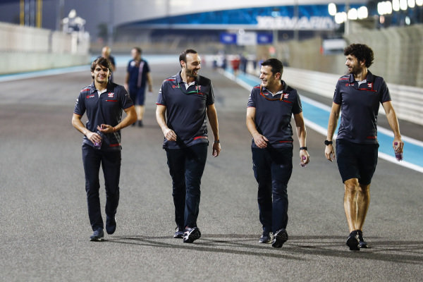 Pietro Fittipaldi, Haas F1 Team, walks the track