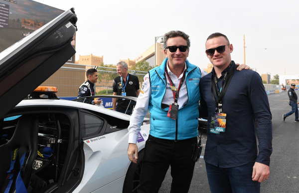 Alejandro Agag, CEO, Formula E and footballer Wayne Rooney