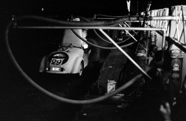 Donald Aldington / A. F. P. Fane, Frazer Nash 328-BMW, makes a pitstop.