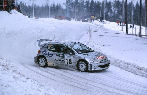 Marcus Gronholm, Peugeot 206 WRC. WinnerSwedish Rally, Sweden 10-13/2/2000World - McKlein/LAT PhotographicRef: 2K WRC 09