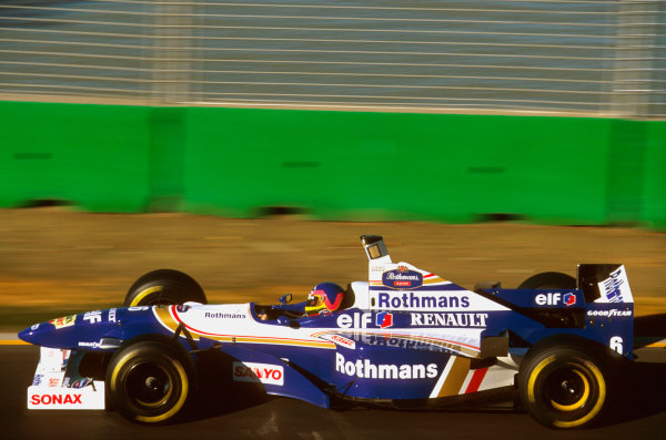 Albert Park, Melbourne, Australia.8-10 March 1996.Jacques Villeneuve (Williams FW18 Renault) 2nd position on his Grand Prix debut. Ref-96 AUS 16.World Copyright - LAT Photographic