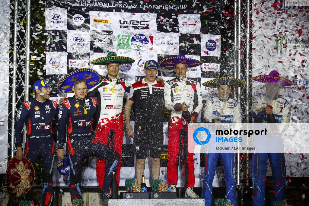 Sébastien Ogier (FRA), Julien Ingrassia (FRA), Toyota Gazoo Racing WRT, Toyota Yaris WRC 2020, Ott Tänak (EST), Martin Järveoja (EST), Hyundai World Rally Team, Hyundai i20 Coupe WRC 2020, Teemu Suninen (FIN), Jarmo Lehtinen (FIN), M-Sport Ford WRT, Ford Fiesta WRC 2020