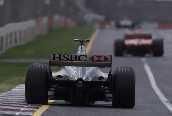 Australian Grand Prix.Albert Park, Melbourne, Australia. 2-4 March 2001.Luciano Burti (Jaguar R2) 8th position.World Copyright - Steve Etherington/LAT Photographicref: 18MB Digital Image
