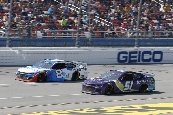 #8: Tyler Reddick, Richard Childress Racing, Chevrolet Camaro Roland DG, #51: Cody Ware, Petty Ware Racing, Chevrolet Camaro NURTEC ODT