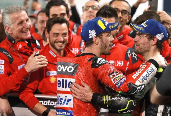 Andrea Dovizioso, Ducati Team, Cal Crutchlow, Team LCR Honda.