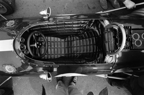 The cockpit of Dan Gurney, Eagle T1G Weslake, retired.