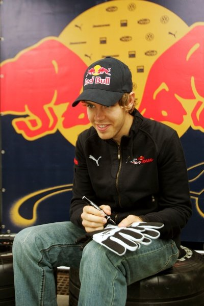 Sebastian Vettel (GER) Scuderia Toro Rosso. Formula One World Championship, Rd 18, Brazilian Grand Prix, Qualifying Day, Interlagos, Sao Paulo, Brazil, Saturday 1 November 2008.