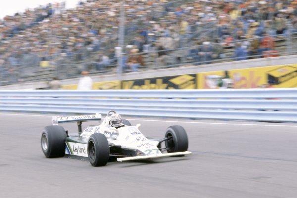 1980 United States Grand Prix.Watkins Glen, USA. 3-5 October 1980.Alan Jones (Williams FW07B-Ford Cosworth), 1st position.World Copyright: LAT PhotographicRef: 35mm transparency 80USA15