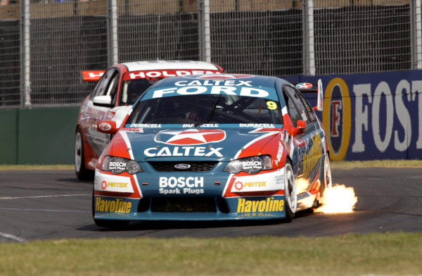 2004 Australian V8 Supercars.Non-Championship Round. Albert Park, Melbourne, 5th - 7th March.V8 Supercar driver Russell Ingall in action in his Ford Falcon BA. World Copyright: Mark Horsburgh/LAT Photographicref: Digital Image Only