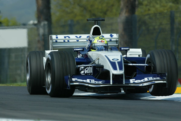 2003 San Marino Grand Prix - Friday 1st QualifyingImola, Italy. 18th April 2003Ralf Schumacher, BMW Williams FW25, action.World Copyright: LAT Photographic ref: Digital Image Only