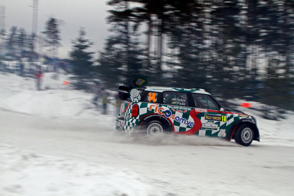 Round 02 - Rally Sweden 09-12 February 2012. Paulo Nobre, Mini WRC, Action.  Worldwide Copyright: McKlein/LAT