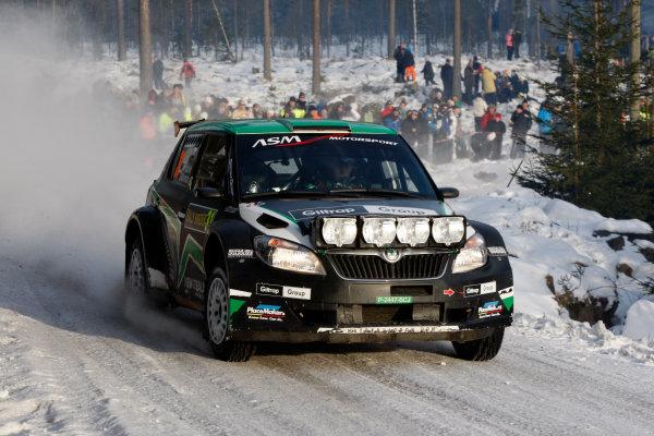 Round 02 - Rally Sweden 09-12 February 2012. Hayden Paddon, Skoda S2000, Action.  Worldwide Copyright: McKlein/LAT
