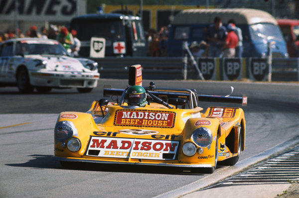 Le Mans, France. 14-15 June 1975 Richard Knight/Mike Knight/Christian Mons (March 75S Ford), 30th position, action. World Copyright: LAT PhotographicRef: 75LM19.