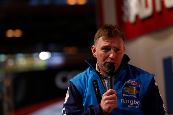 Autosport International Show NEC, Birmingham.  Sunday 12 January 2014. Chris Stockton on the stage. World Copyright:Sam Bloxham/LAT Photographic ref: Digital Image _SBL2805