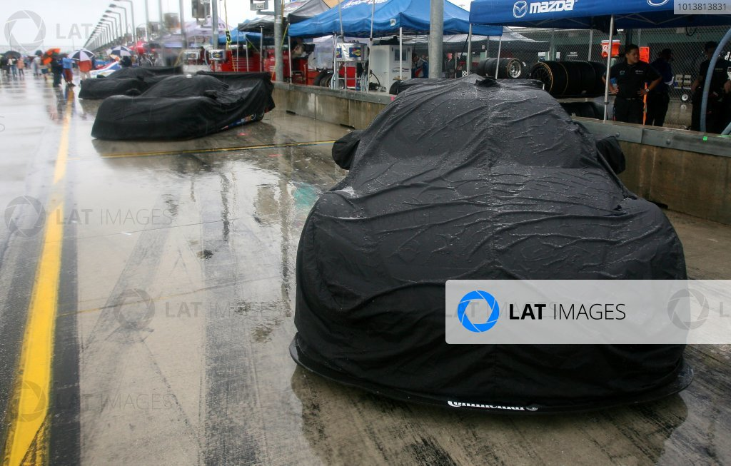27-29 March, 2012, Homestead, Florida USA Cars covered up on pit road before the race. (c)2012, R.D. Ethan LAT Photo USA