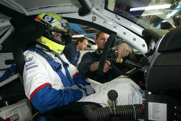 Williams F1 star Ralf Schumacher (GER) gets ready to try out the BMW M3 GTR which will take part in the Nurburgring 24 Hours.