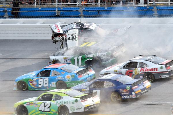 29-30 April, 2016, Talladega, Alabama USA  Joey Logano (22) wrecks with Blake Koch (11)  ©2016, John Harrelson / LAT Photo USA
