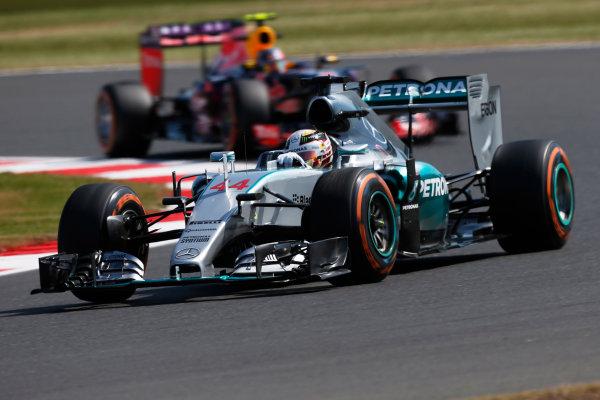 Silverstone Circuit, Northamptonshire, England. Friday 3 July 2015. Lewis Hamilton, Mercedes F1 W06 Hybrid. World Copyright: Andrew Ferraro/LAT Photographic ref: Digital Image _FER0395
