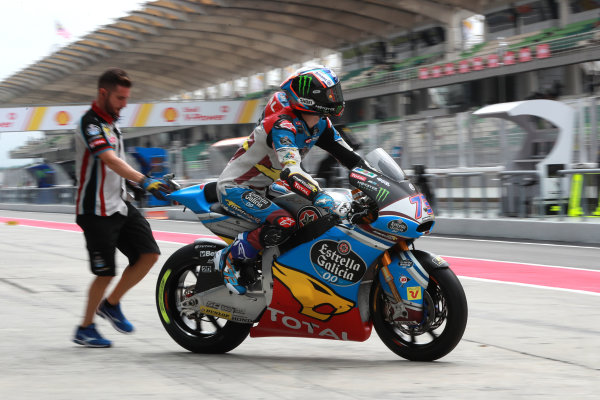 2017 Moto2 Championship - Round 17 Sepang, Malaysia. Friday 27 October 2017 Alex Marquez, Marc VDS World Copyright: Gold and Goose / LAT Images ref: Digital Image 25427