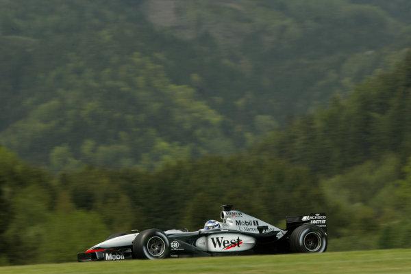 2002 Austrian Grand Prix - PracticeA-1 Ring, Zeltweg, Austria. 10th May 2002Kimi Raikkonen, West McLaren Mercedes MP4/17, action.World Copyright: Pic Steve Etherington/LATref: Digital Image Only