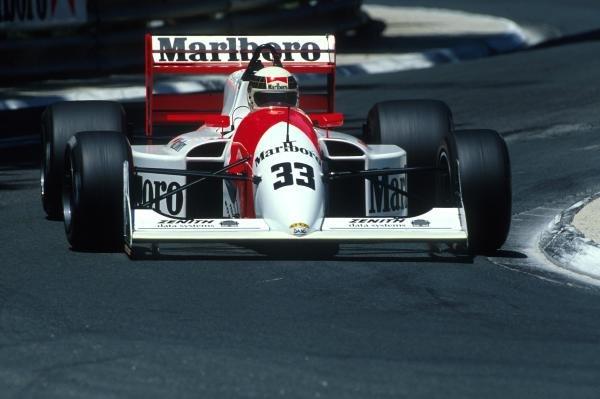 Allan McNish (GBR) DAMS Lola T90/50 Cosworth DFV finished sixth.International Formula 3000 Championship, Pau, France, 4 June 1990.