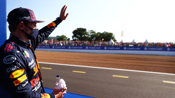 Max Verstappen, Red Bull Racing, 1st position, after the Sprint Qualifying