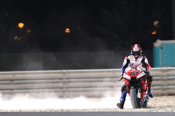 Francesco Bagnaia, Pramac Racing goes wide.