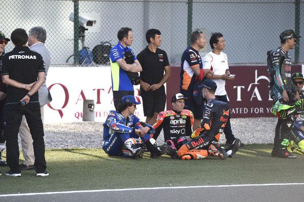 Alex Rins, Team Suzuki MotoGP, Aleix Espargaro, Aprilia Racing Team Gresini, Pol Espargaro, Red Bull KTM Factory Racing.