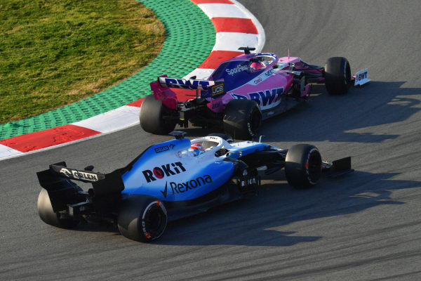 George Russell, Williams FW42 and Lance Stroll, SportPesa Racing Point F1 Team RP19
