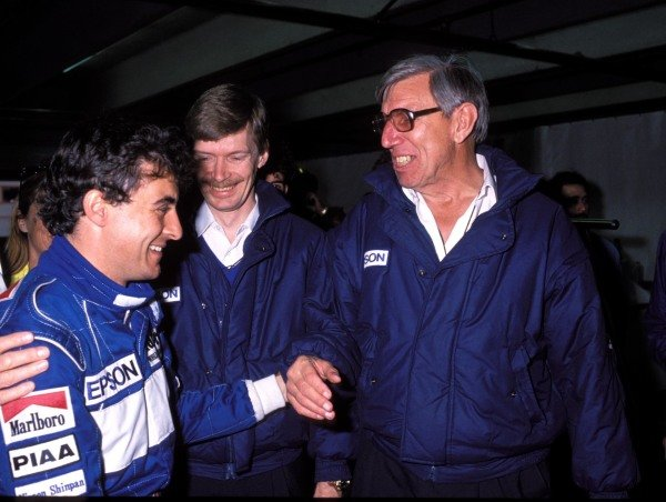 Jean Alesi with Ken Tyrrell.