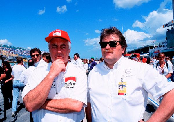 1999 CART MIAMI GP, 21-3-99, Homestead, FL, USARoger Penske and Norbert Haug on the grid.-1999, Michael L. Levitt, USA 248-399-3371LAT PHOTOGRAPHIC