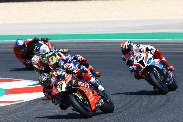 Chaz Davies, Aruba.it Racing-Ducati Team, Tom Sykes, BMW Motorrad WorldSBK Team, Michael van der Mark, Pata Yamaha.