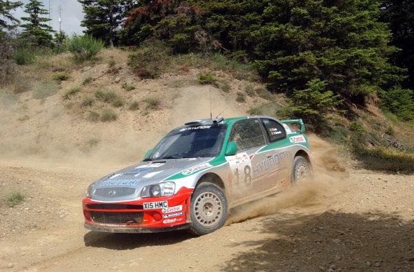 World Rally Championship, Acropolis Rally, June 13-16, 2002.Freddy Loix on stage 1.Photo: Ralph Hardwick/LAT