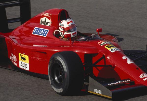 1990 Portuguese Grand Prix.Estoril, Portugal.21-23 September 1990.Nigel Mansell (Ferrari 641) 1st position.Ref-90 POR 11.World Copyright - LAT Photographic